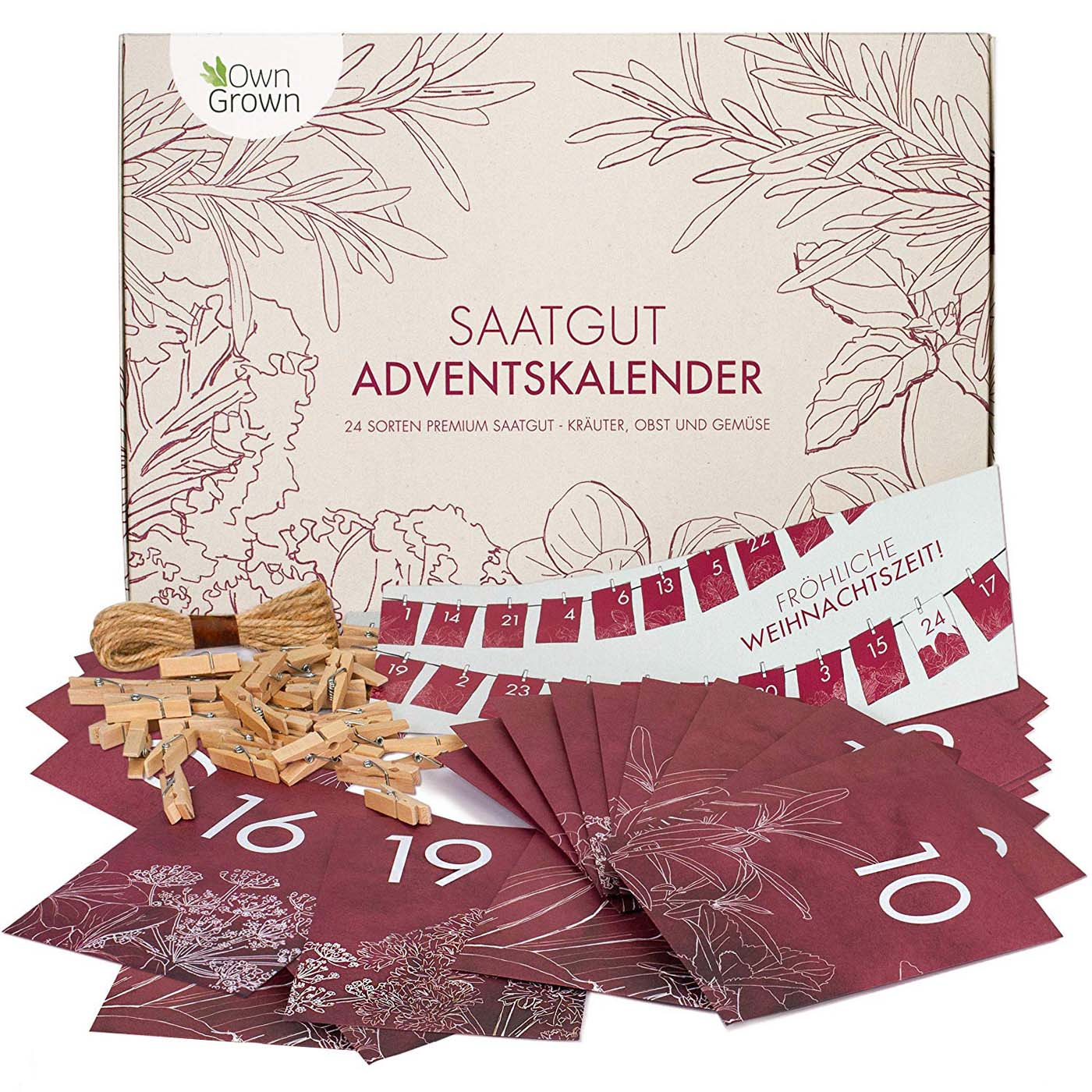 DIY Saatgut Adventskalender